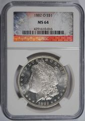 1882-O $1 MS64 beautiful surfaces