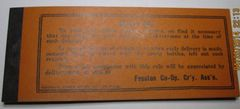 1930s $2 Fosston, MN Co-OP Creamery Assn Coupon Book-see all pics