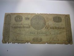 1861 $1 Corporation of Richmond