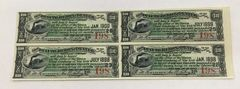 1898 Duluth, Huron and Denver Railroad Company $3 Bond Interest Coupons
