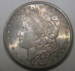 1882-S $1 MS62 soft toning