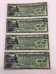 1904 St Louis, Alton & Springfield RR Co $25 Bond Interest Payable in Gold