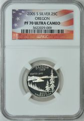 "2005-S Oregon 25c NGC PF70 Ultra Cameo ""2017 Final Four"""