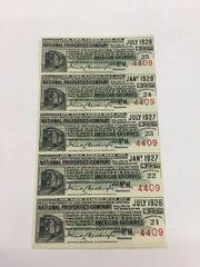 1916 National Properties American Railways $25 Bond Interest Coupons
