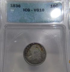 1836 Capped Bust 10c ICG-VG10