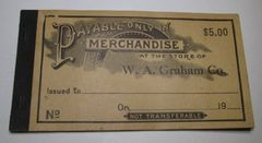1933 $5 Pryor, OK Merchandise Coupon Book, see all pics