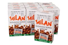 Milan Sugandhi Supari - 10 boxes of 15 pouches each