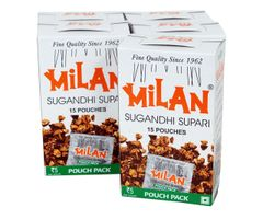Milan Sugandhi Supari - 5 boxes of 15 pouches each