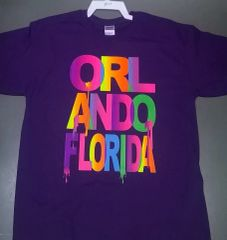 Adult Neon Driping Orlando Florida T-Shirts
