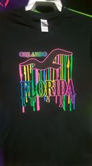 Adult Neon SE Driping Orlando Florida T-Shirts