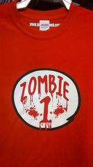 Adult ZOMBIE-1 Red T Shirt