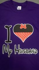 i ♥ Love my husband t-shirt