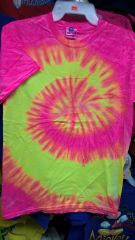 Adult Tie-Dye T Shirt Pink/yellow