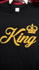 KING T-Shirt with Gold Letters