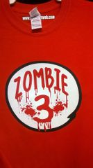 Adult ZOMBIE-3 Red T Shirt
