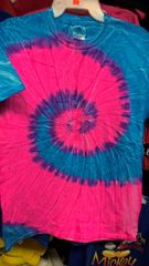 Adult Tie Dye T Shirts Blue/Pink
