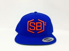 Orange on Blue Snapback