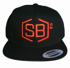 Orange on Black Snapback