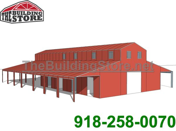 Barn 66x80. Custom Vertical Horse or livestock barn