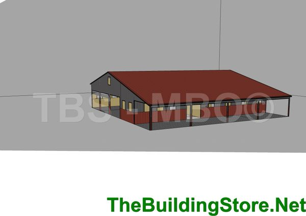 House #02 Custom Steel House 48x60 (12x60 porch)