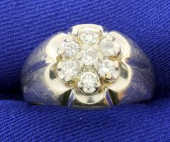 MENS' 14K GOLD DIAMOND RING