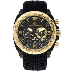 New Oceanaut Men's OC1122 Racer Gold Chronograph Analog Watch