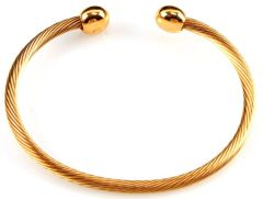 18Kt Gold Plated Bangle / Cuff / Bracelet (Large)