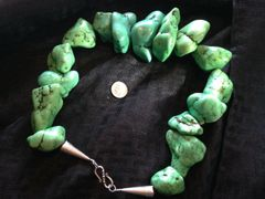 Silver & Turquoise Heavy / Large Necklace 702 Grams / 140 Carats of Turquoise (1 Lb / 8 Oz.)