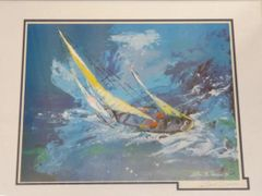 """Leroy Neiman """"Sailing"""" Signed Lithograph"""
