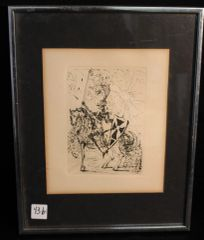 "Salvadore Dali Original Etching ""El Cid"" from the Spanish Immortals Series"