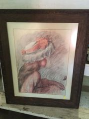"""Etching of Girl by Renoir"" - An Estate Find"