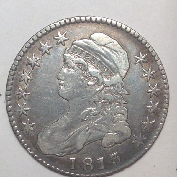 1813 50/UNI Capped Bust Half Dol. XF40 cleaned