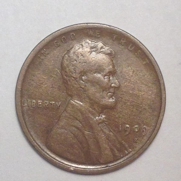Key 1909-S Lincoln Cent XF45