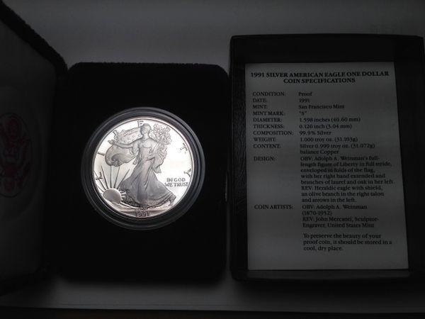 1991 Silver Eagle Proof
