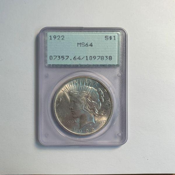 1922 Peace Silver Dollar MS64