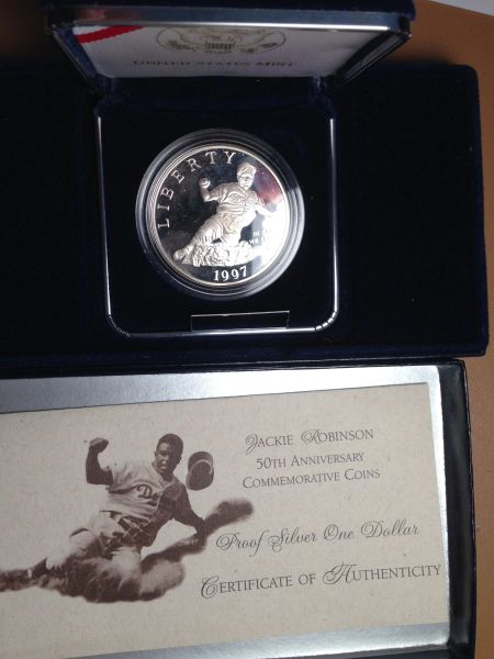 1997 Jackie Robinson Proof Silver Dollar