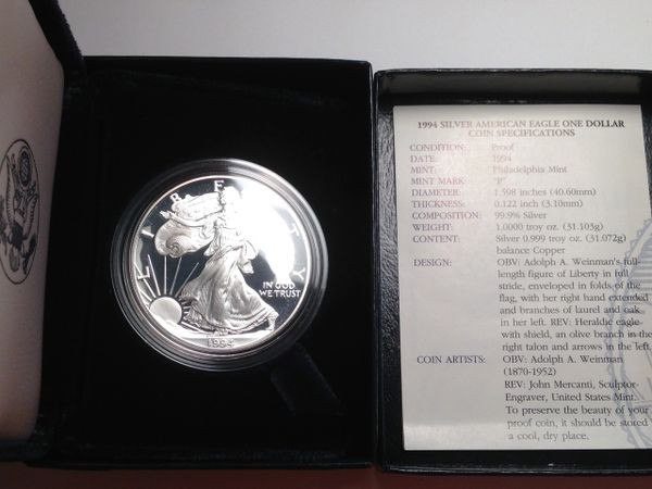 1994 Silver Eagle Proof First Year