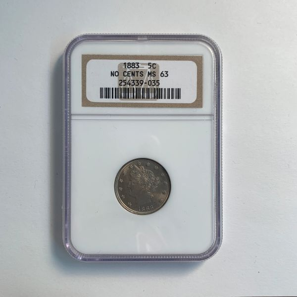 "1883 Liberty ""V"" Nickle MS63"