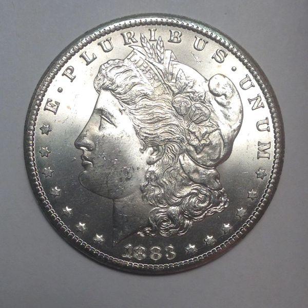 1883-CC Morgan Dollar MS63+