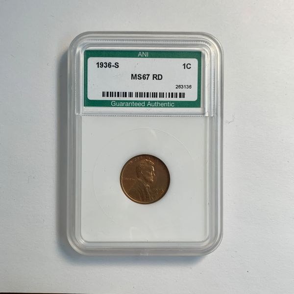 1936-S Lincoln Wheat Cent MS67 RD
