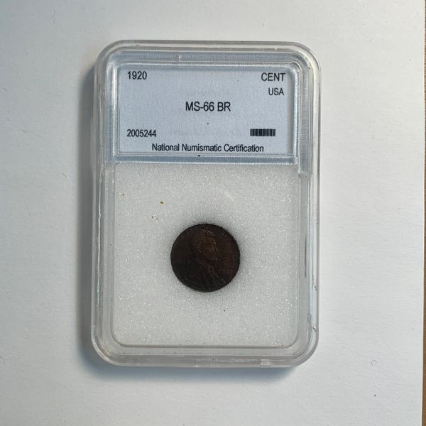 1920 Lincoln Wheat Cent MS66 BR