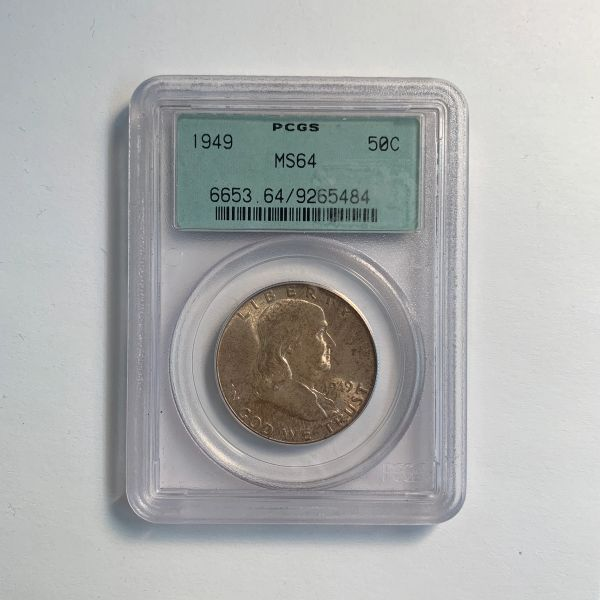 1949 Franklin Half Dollar MS64
