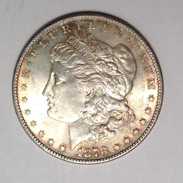 1878-S Morgan Dollar BU with Beautiful Color!