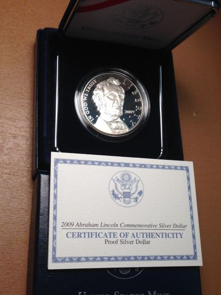2009 Abraham Lincoln Proof Silver Dollar