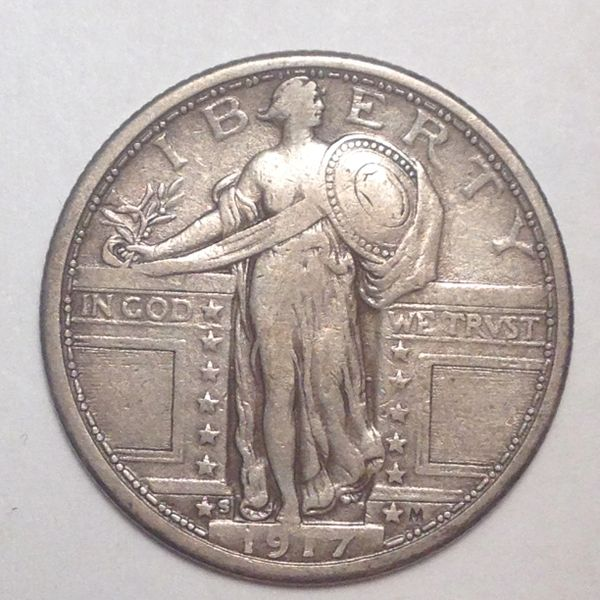 1917-S T1 Standing Liberty Quarter VF35