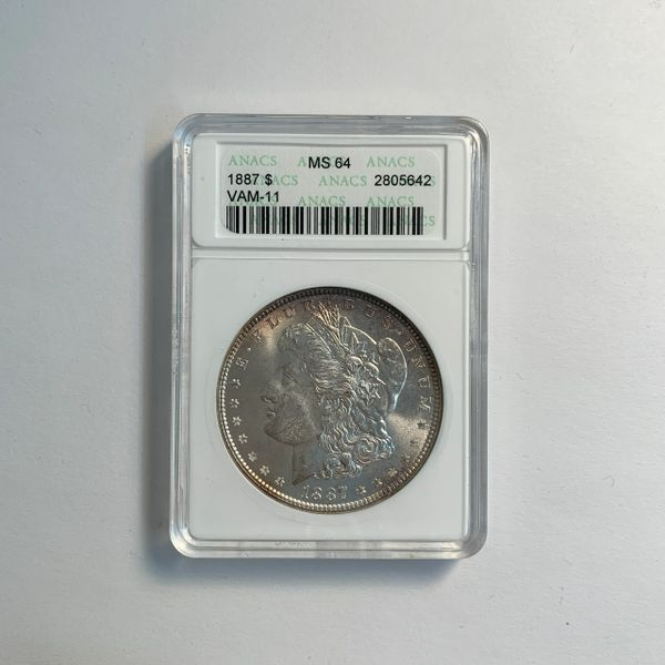 1887 Morgan Silver Dollar MS64