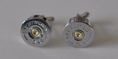 Remington 12 Gauge Shotgun Shell Bullet Cufflinks Highly Polished Silver Nickel Finish