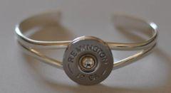 Remington 12 gauge Shotgun Shell (Silver Plate) Cuff Bracelet Custom Made