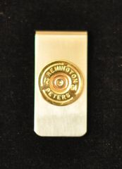 Remington Peters 12 Gauge Brass Shotgun Shell Bullet Money Clip