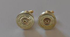 Remington Peters 12 Gauge Shotgun Shell Bullet Cufflinks Custom Made in the USA